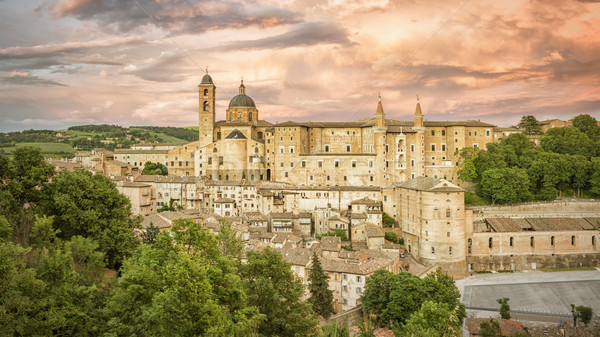 Urbino Marche Italy at evening time Stock photo © magann