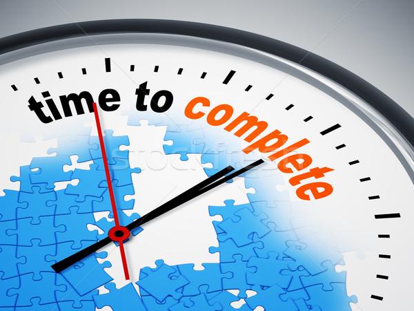 Tijd compleet afbeelding mooie klok business Stockfoto © magann