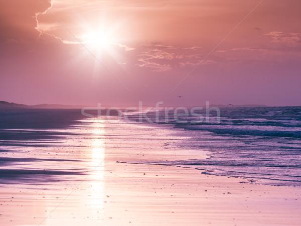 до 80 пляж Австралия изображение красивой закат Сток-фото © magann