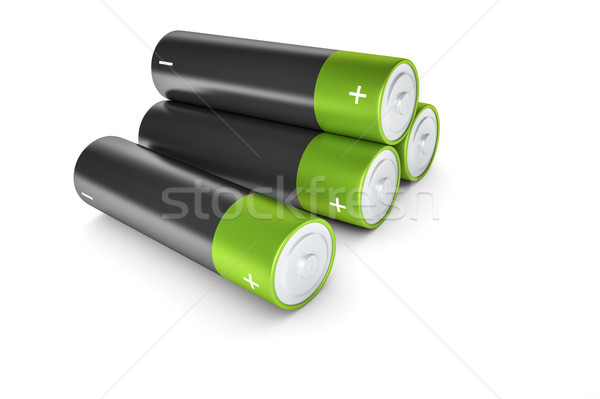 black and green batteries Stock photo © magann