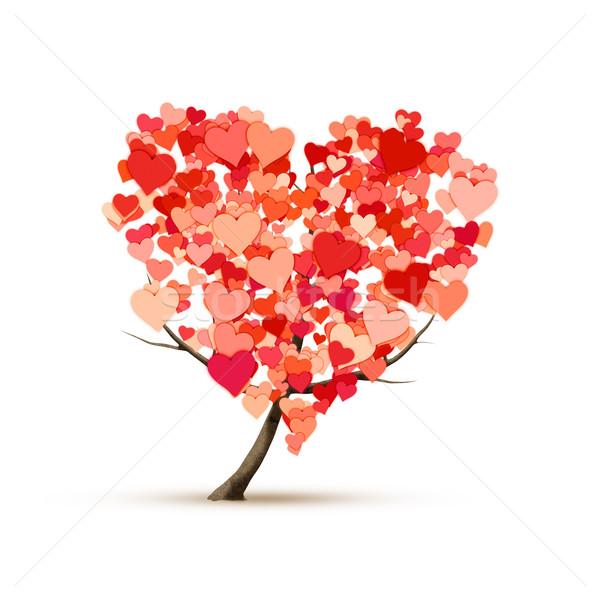 heart shape tree Stock photo © magann
