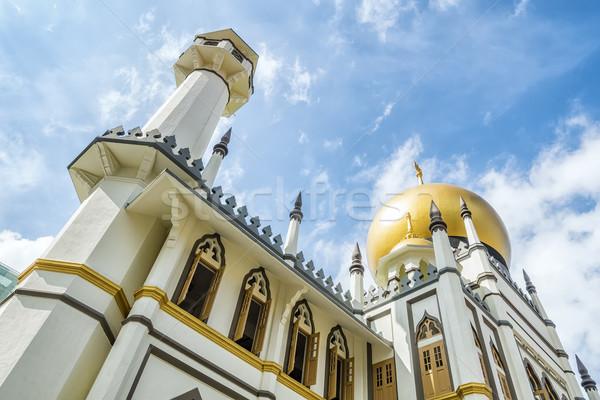 Moskee Singapore afbeelding wolken bouw ontwerp Stockfoto © magann