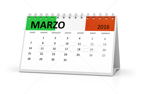 italian language table calendar 2016 march Stock photo © magann