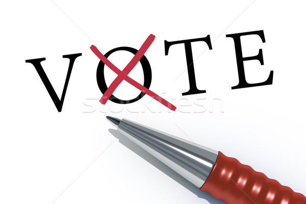 red ballpen vote Stock photo © magann