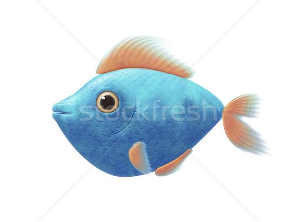 turquoise comic fish Stock photo © magann