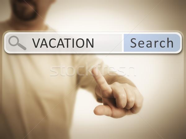 веб поиск изображение человека поиск отпуск Сток-фото © magann