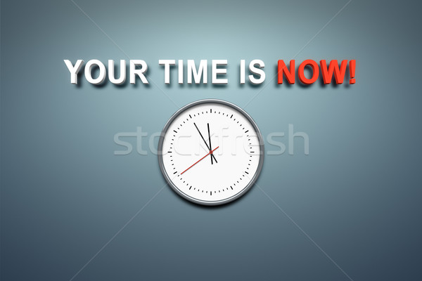your time is now at the wall Stock photo © magann