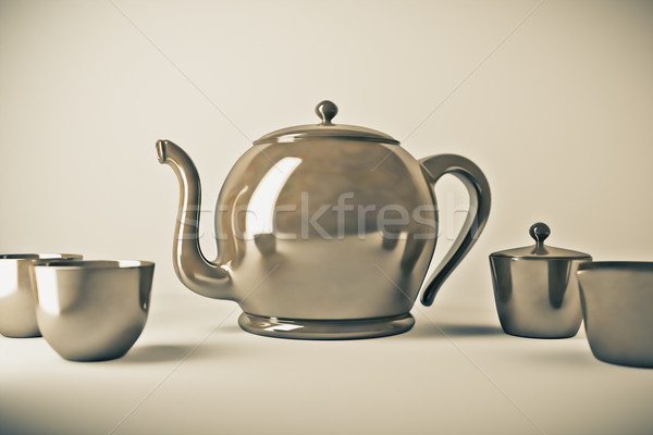 Teiera tazza da tè immagine bere tè servizio Foto d'archivio © magann