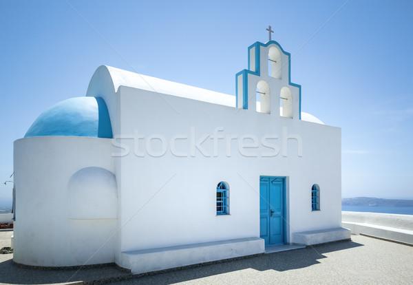 Santorini kościoła obraz nice budynku charakter Zdjęcia stock © magann