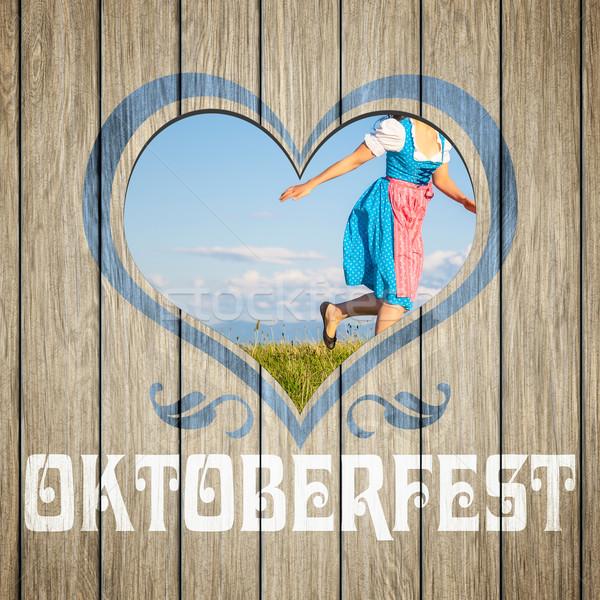 wooden heart Oktoberfest Stock photo © magann