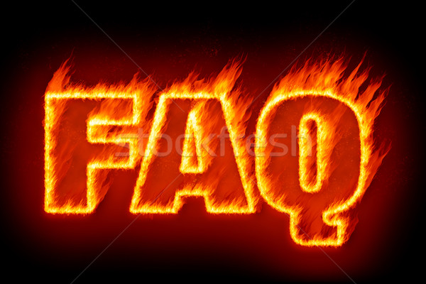 よくある質問 炎 画像 言葉 テクスチャ 自然 ストックフォト © magann