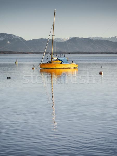 セーリング ボート 湖 ドイツ 水 旅行 ストックフォト © magann
