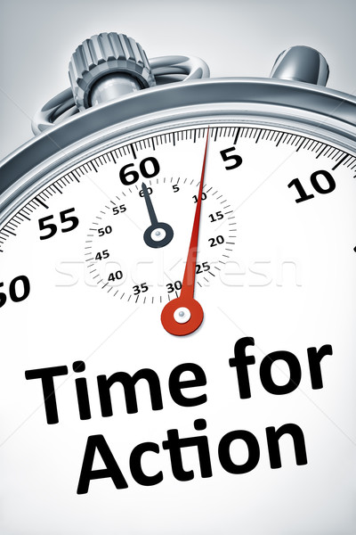 stopwatch with text time for action Stock photo © magann