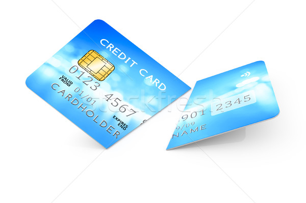 expired cut credit card Stock photo © magann