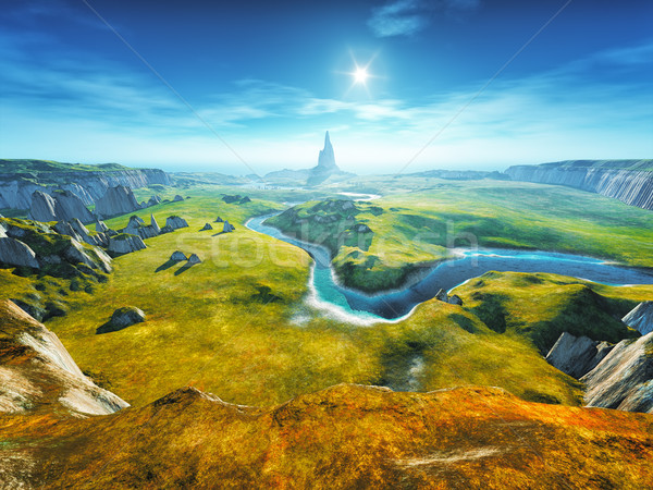 a colorful fantasy landscape Stock photo © magann