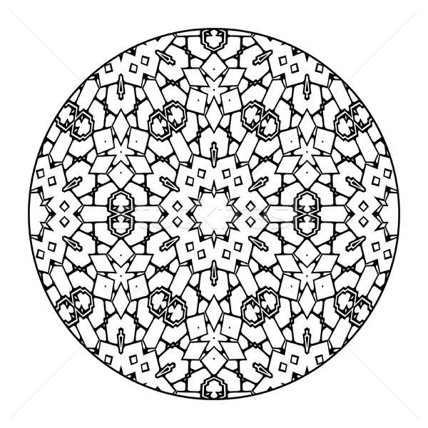 曼陀羅 黒白 画像 いい 花 デザイン ストックフォト © magann