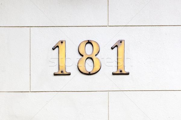 числа изображение дома текстуры стены домой Сток-фото © magann