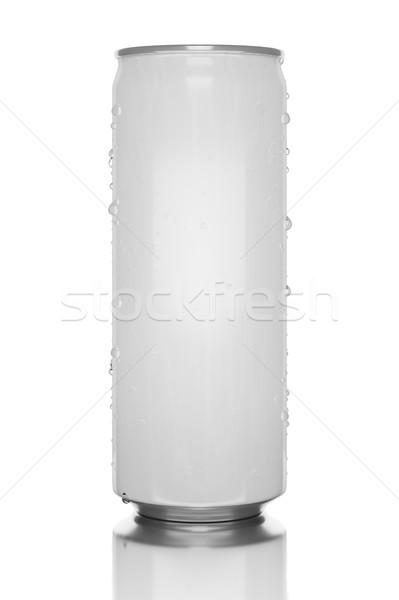 white energy drink tin Stock photo © magann