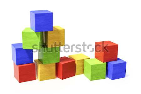 some colorful building blocks Stock photo © magann