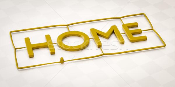 Plastique injection mot maison 3d illustration fond Photo stock © magann