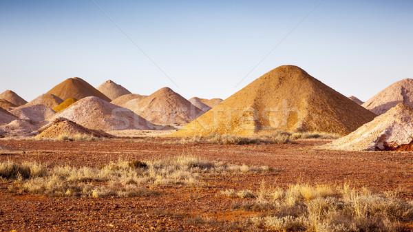 Imagem mineração areia vermelho parque abrir Foto stock © magann
