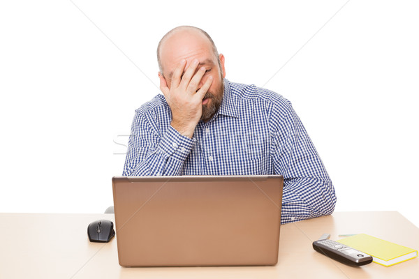 depressed man Stock photo © magann