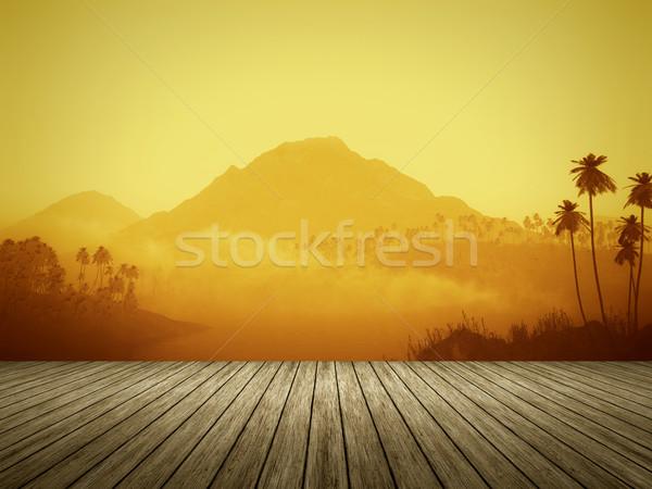 orange landscape Stock photo © magann