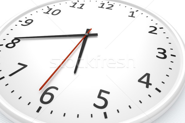 white clock detail Stock photo © magann