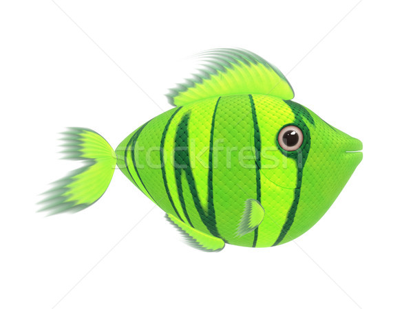 Vert dessinées poissons illustration cartoon cute Photo stock © magann