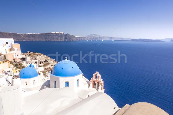 典型的な 表示 サントリーニ ギリシャ 画像 壁 ストックフォト © magann