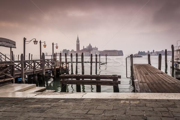 Venedik İtalya görüntü güzel su Stok fotoğraf © magann