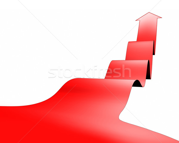 Rosso arrow immagine business abstract design Foto d'archivio © magann