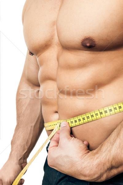 Misura corpo immagine bello giovani muscolare Foto d'archivio © magann