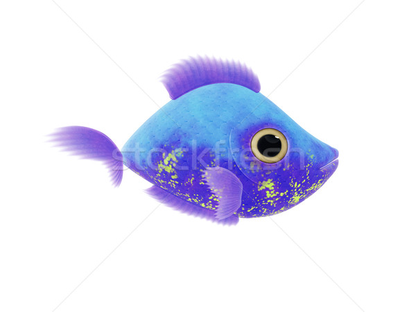 Pourpre bleu poissons illustration cartoon cute Photo stock © magann