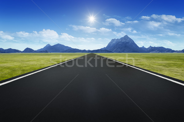 Route horizon 3D ciel paysage Photo stock © magann
