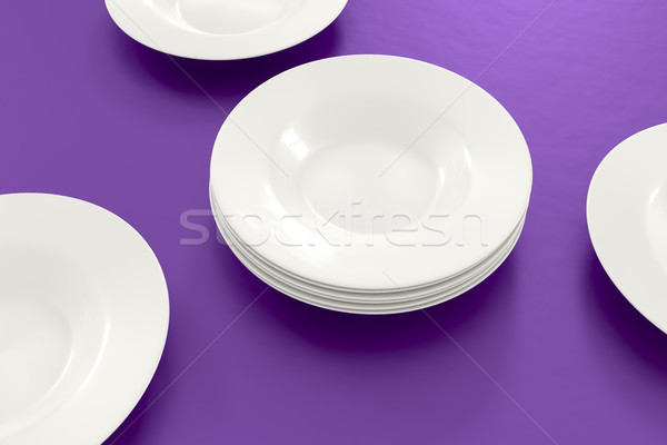 some plates on the table Stock photo © magann