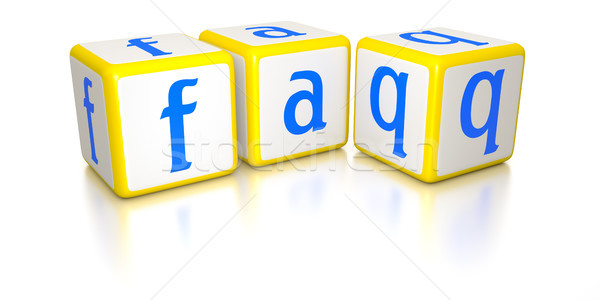 Vaak vragen afbeelding dobbelstenen internet abstract Stockfoto © magann