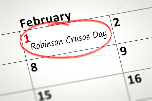 Robinson Crusoe Day first of February Stock photo © magann