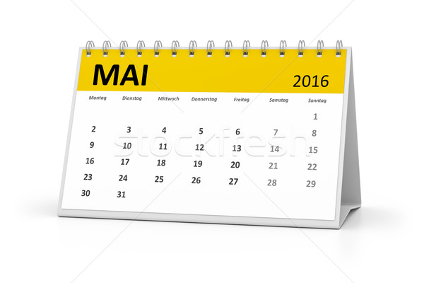 german language table calendar 2016 may Stock photo © magann