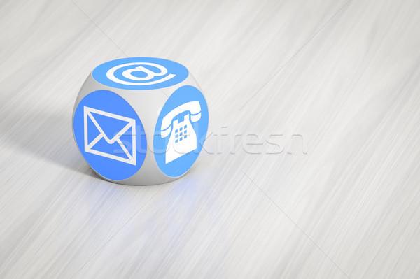 Turquesa cubo signos teléfono carta Foto stock © magann