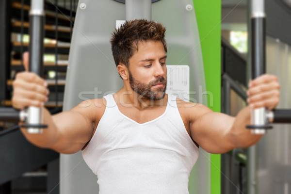 Bodybuilding man vlinder knap jonge gespierd Stockfoto © magann