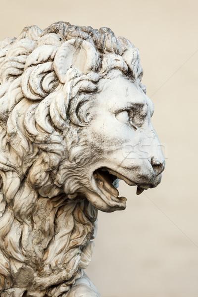 Leão escultura imagem arte cor arquitetura Foto stock © magann