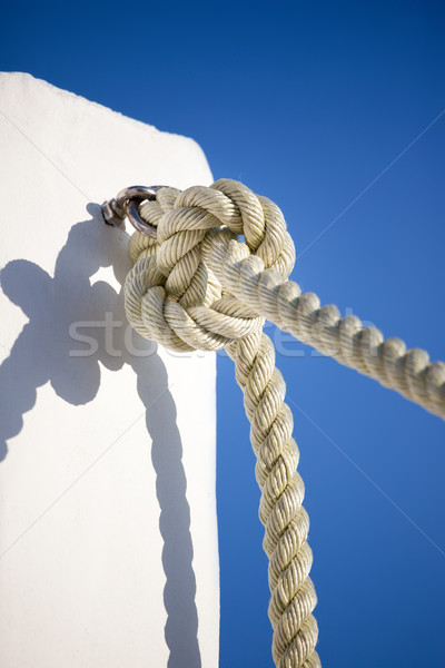 Csomó kötél kép nagy égbolt kék Stock fotó © magann