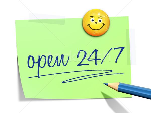 Kâğıt mesaj açmak ofis arka plan imzalamak Stok fotoğraf © magann