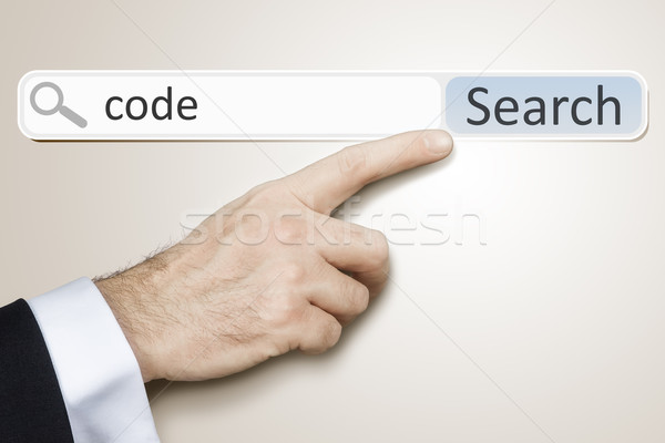 веб поиск изображение человека поиск Код Сток-фото © magann