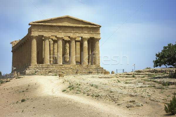greek building in Sicily Stock photo © magann