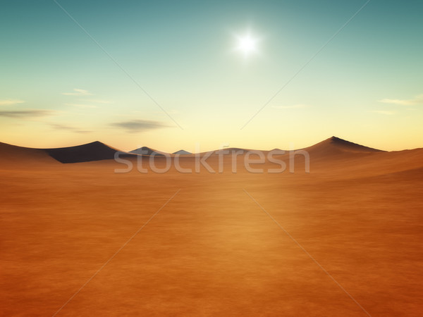 desert sunset Stock photo © magann
