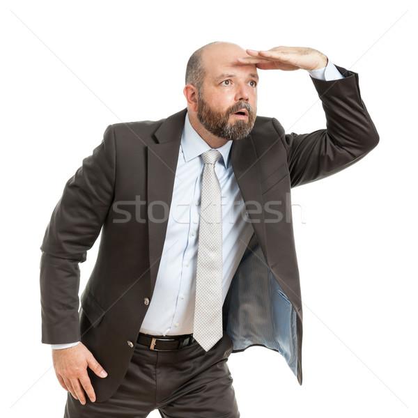 business man seeks Stock photo © magann