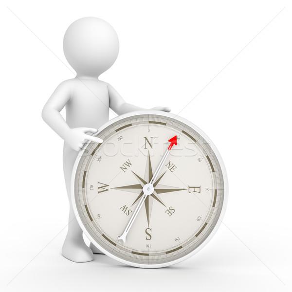 man and compass Stock photo © magann