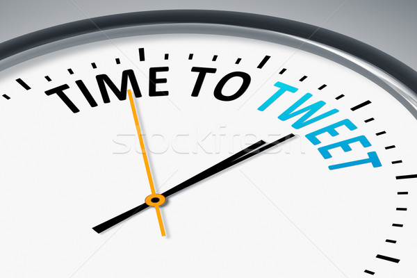 clock with text time to tweet Stock photo © magann